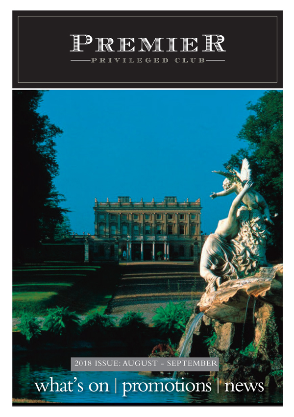 The front of the latest newsletter features the elegant, beautiful and famous Cliveden, Berkshire - which hosts a literary festival in late September