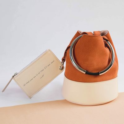 An Arren Frances bag with handwritten personal message