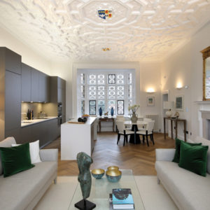 One the Eagle House apartments, complete with wonderful antique decorative plasterwork