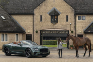 Bentley Continental GT Convertible Equestrian Edition photographed at Jackdaws Castle