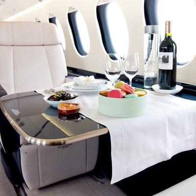 Falcon priavte jet interior