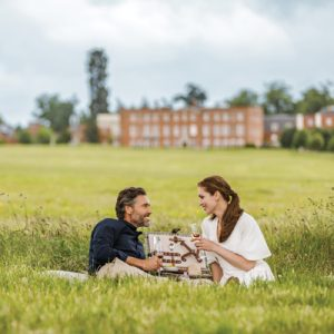 Enjoying a corner of the hotel's 500 acres of countryside with a picnic