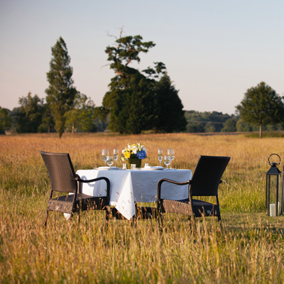 Alfresco dining - a personalised romantic experience guests