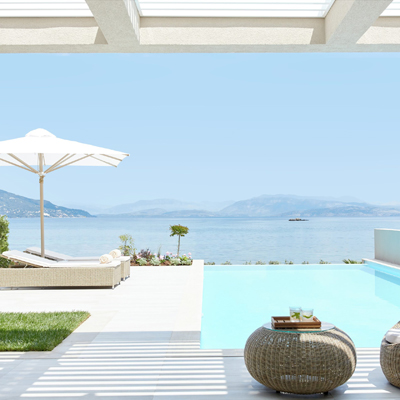 An Ikos Aria Deluxe One Bedroom Bungalow Suite Private Pool Beach Front