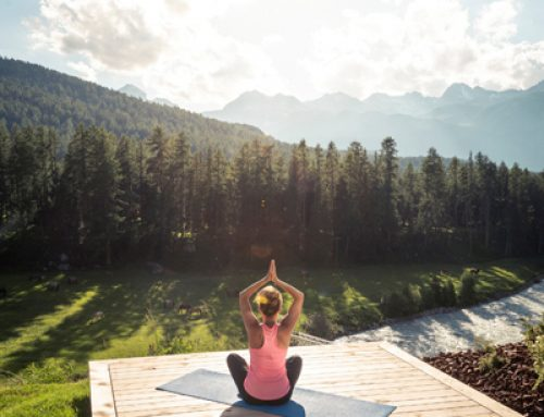 HEALTH: What better place to de-stress than on a Grand Hotel Kronenhof yoga platform?