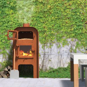 The entire range is crafted from high-quality Corten steel, a striking on-trend metal which rusts as it weathers