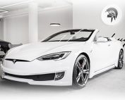 ARES created Tesla Model S Convertible