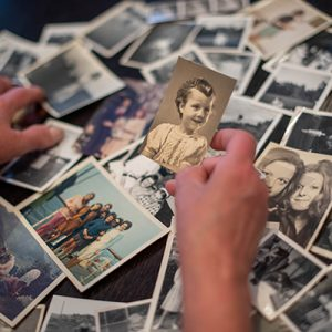 Instead of being tucked away in dusty albums the pictures that accompany these personal stories are on printed form for all to enjoy