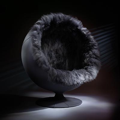 The Igloo Pod swivel globe chair