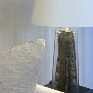 This bespoke lamp sourced as part of a scheme