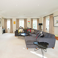 Bright, spacious interiors at Parkside