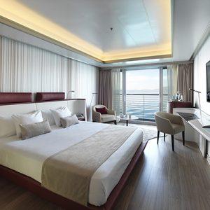 Superyacht Deluxe room aboard Sunborn