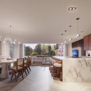Inside, the two Richmond Riverside homes exude sophistication