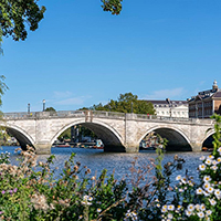 One of the most picturesque spots for riverside living in London is Richmond-Upon-Thames