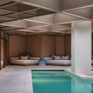 The Retreat at The Londoner is a subterranean wellness floor with spa, gym and beauty salon